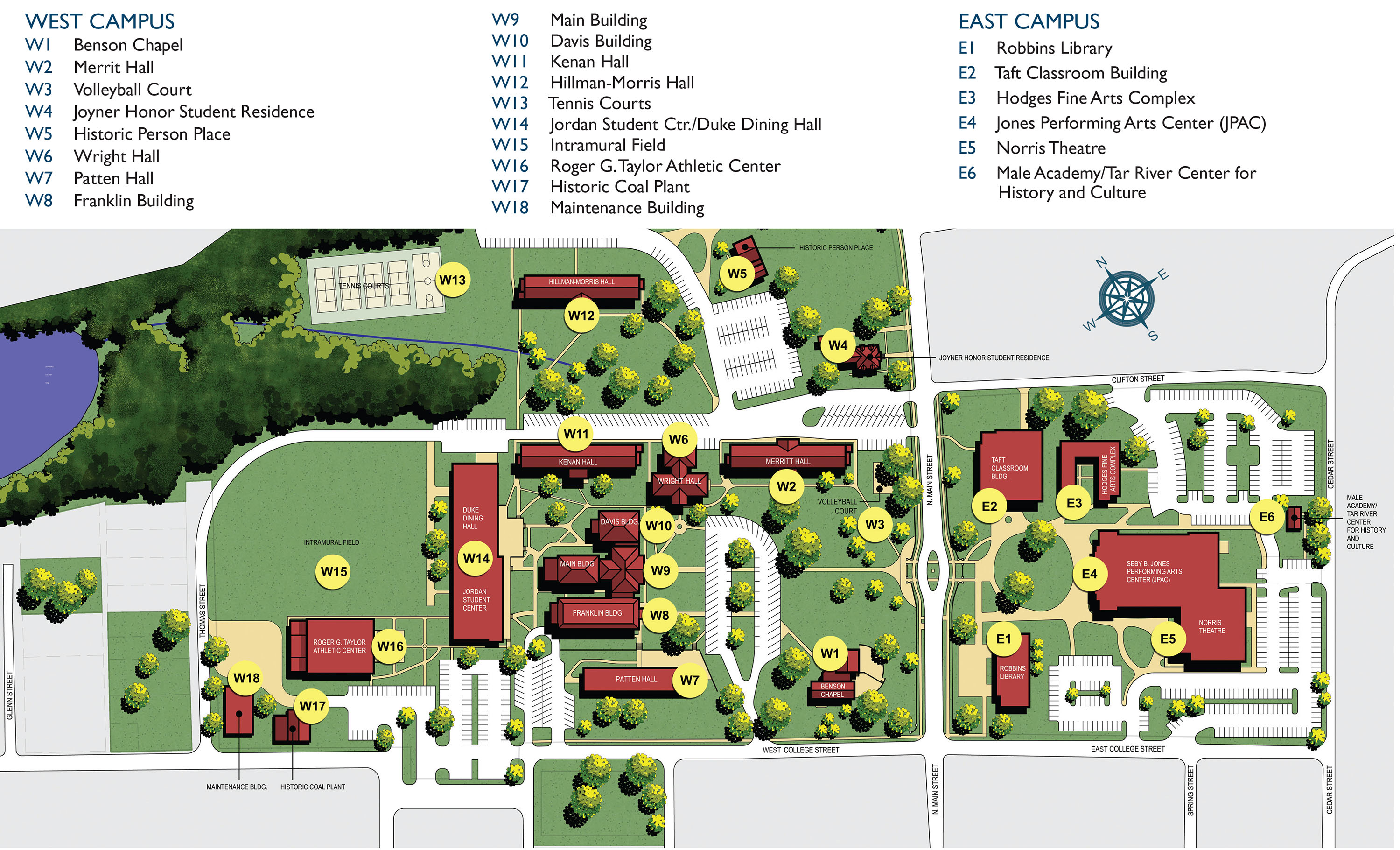 Taft College Campus Map.Louisburg College Maps Directions