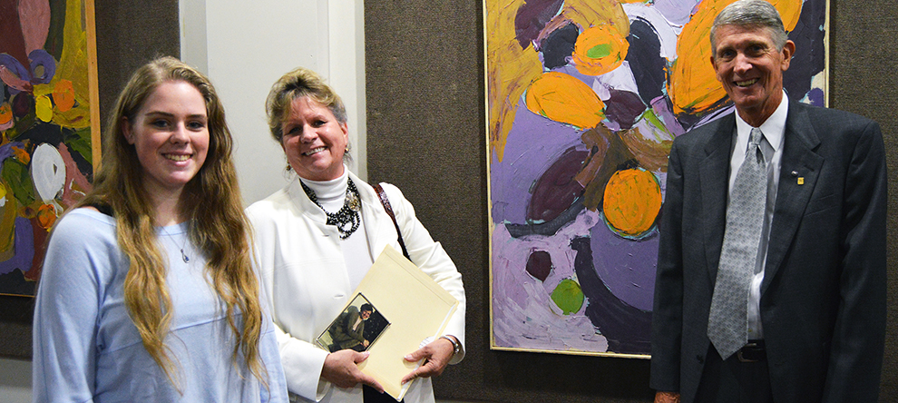 Exhibit features paintings by Dr. Jane Bolmeier:  student of famed abstract painter Hans Hoffman