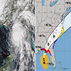 Graphic image of the track of Hurricane Michael