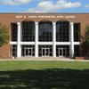 Brown brick Seby B. Jones Performing Arts Center (JPAC)