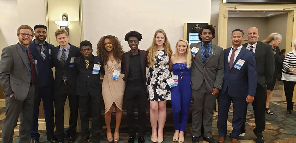 Students take part of a national business competition